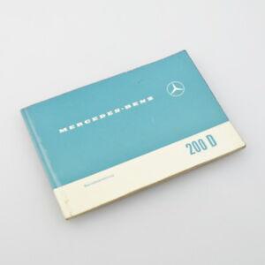 Original Mercedes-Benz W110 200D - Betriebsanleitung 1966 - Bedienungsanleitung