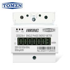 20(100)A 220V 60HZ Single phase Din rail KWH Watt hour din-rail energy meter LCD