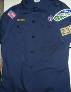 Troop # 232 Official Boy Scout of America Shirt Youth size Medium With Patches