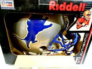 Riddell Pro Line Authentic Detroit Lions Helmet Size L Original Box & Hang Tags