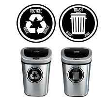 Recycle and Trash Decal Sticker for trash cans - Home & Office Use! Choose Size!