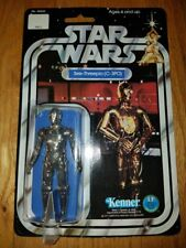STAR WARS vintage NEW 1977 AFA READY C3PO 12 back MOC Kenner $$ L@@K $$