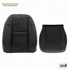2013 2014 Chevy Silverado 1500 Driver Bottom -Lean Back Black Leather Seat Cover
