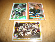 NEW YORK JETS AUTOGRAPHED CARD LOT-GERRY PHILBIN, PAT LEAHY, & TROY BENSON