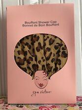 SPA SISTER STYLISH BOUFFANT SHOWER CAP LEOPARD CAT DESIGN NEW PACKAGING!