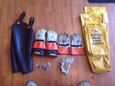 Salisbury D-1051 Sleeves & ILP 3S Gloves & Hi Line HLEGP3 10 Leather Gloves