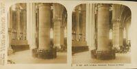 Francia Il Mans Cattedrale Interno, Foto Stereo Vintage Analogica PL61L1148