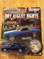 Greenlight 1969 Chevelle Super Sport 396 Blue and White 1 of 5000