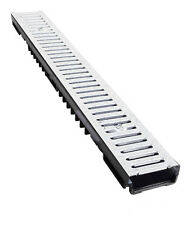 Drainage Channels Galv Grate -Low Profile - A15 1.5tonne loading- Pack of 4 x 1m