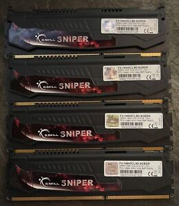 G.SKILL Sniper Series 16GB 4 x 4GB 240-Pin DDR3 SDRAM DDR3 1866 PC3 14900 Memory