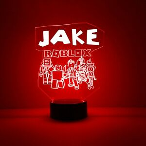 Roblox LED Night Light, with Remote Control, Engraved Light Up
