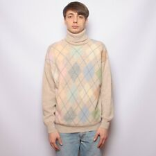 Vintage 90s United Colors of Benetton Wool Blend Mens Jumper Size 50 Rhombus