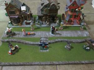 Halloween Village Display Platform Base H43 For Lemax Dept 56 Dickens + More