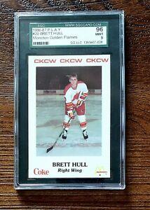 1986-87 Moncton Golden Flames PLAY Brett Hull RC rookie SGC 9 MINT= PSA 9 BGS 9