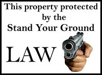 2nd Amendment Sign Home Protection 9 x 12 Security Aluminum Sign UV Protected