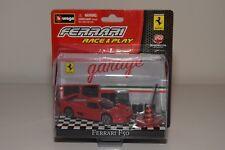 V 1:43 BBURAGO BURAGO RACE&PLAY GARAGE FERRARI F50 F 50 RED DIORAMA MIB