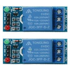 2pcs 1 Channel DC 5V Relay Board Switch Module For Arduino Raspberry Pi ARM AVR