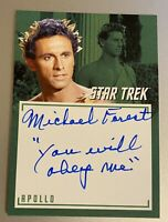 STAR TREK TOS CAPTAINS COLLECTION A7 MICHAEL FOREST INSCRIPTION AUTOGRAPH Card 3