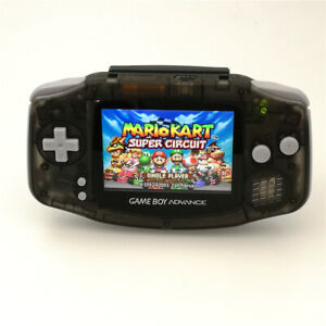 Nintendo GBA Game Boy Advance Console with iPS Backlight LCD MOD -Clear Black