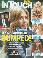 In Touch magazine  Jennifer Aniston Justin Theroux Teen Mom Ryan Gosling Beyonce