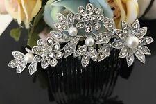 Vintage hair comb bridal wedding crystal rhinestone hair accessories 101717