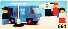 LEGO Set 664 TV 2 News Crew