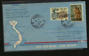 Vietnam  military  blue cachet cover  1973        MS0502