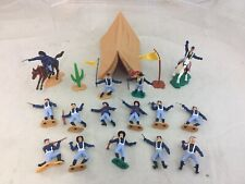 Lot Timpo Toys Wild West US Cavalry Troopers Toy Soldiers