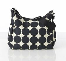 OiOi Ebony/Desert Dot Printed Canvas Baby Changing Bag with Accessories RRP £80