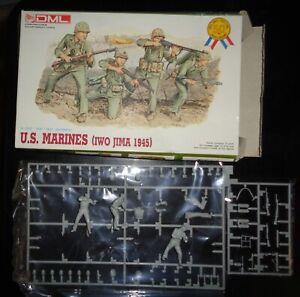 1995 DML # 6038 1:35 Scale Figures - U.S. Marines Iwo Jima 1945.