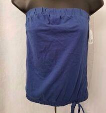 Miken NWT Woman's Nautical Blue Halter Tube Top Shirt Size XS