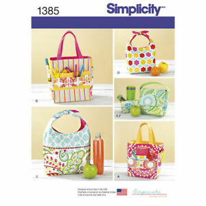 Simplicity Sewing Pattern 1385 Lunch or Snack Bag and Art or Craft Caddy Tote