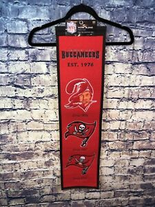 Tampa Bay Buccaneers Team Logo 8x 32 Fan Favorite Wool Banner Free Shipping🔥👀