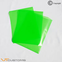 3 x A4 sheets Green Headlight Tint Film for Fog Lights Tinting Car Vinyl Wrap