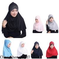 Muslim Women Hair Loss Hijab Hat Underscarf Bonnet Hijab Islamic Neck Cover Cap