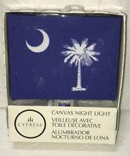 NEW South Carolina Flag Night Light Blue Canvas Palmetto Tree Crescent Moon