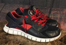 NIKE Huarache Free Run 2011 Athletic Shoes Men's Size 12 487654-400 Blue Red