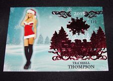 2015 Benchwarmer TRA'SHELL THOMPSON Holiday #62 Red Foil Variant #1/1 Hot TROPIC