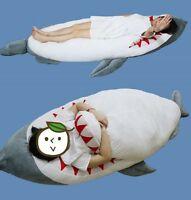 79u0027u0027 Giant Shark Plush Stuffed Huge Dakimakura Hugging Body Pillow Sleeping  Bags