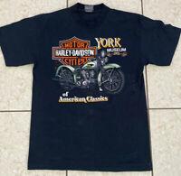 Vintage 1989 Harley Davidson York Museum Of American Classics Shirt Size Large