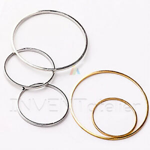 10x Copper Circle Frame Geometric Pendants Earring Findings Connectors    _613