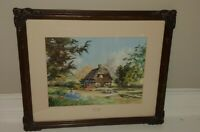 Glory Cottage By Marty Bell Artist Signed Lithograph 1988 1006/2450 Rare Find!
