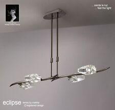 MANTRA ECLIPSE BLACK CHROME 4 LIGHT BAR CEILING LIGHT - M1456BC
