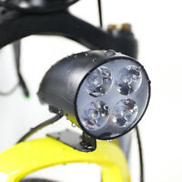 36V 48V eBike Light Scooter Lamp Electric Bicycle 4 LED Front Headlight w/ Horn