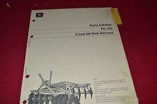 John Deere U & US Disk Harrow Dealer's Parts Book Manual PANC