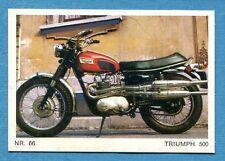 MOTO - Ed. Raf - Figurina/Sticker n. 66 - TRIUMPH 500 -Rec