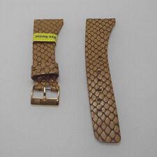 Cinturino pelle Morellato stam. lucertola color cognac ansa 18 fibbia dorata b24