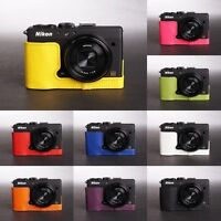 Handmade Real Leather Half Case Camera Case bag for Nikon Coolpix A 10 colors