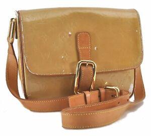 Authentic Louis Vuitton Vernis Christie GM Shoulder Bag Yellow LV C0738