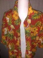 High Sierra Hawaiian Tropical Mens Shirt XXL Button Up Short Sleeve